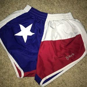 Tyler Texas Flag Shorts Size XS